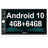 Vanku Android 10 Double Din Car Stereo with 4GB RAM+64GB, GPS, Fastboot, WiFi, Support Android Auto, Backup Camera, 7 Inch Touchscreen
