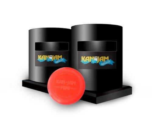 KanJam Splash Spielset: Pool Wasserspiel Set - Wasser Frisbee Wurfspiel - inkl. 2 schwimmfähige Splash Tore & 1 Mini Flying Disc Frisbee Scheibe - tragbares & einfach aufbaubares Spiel für Pool