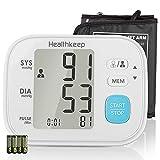 Misuratore di Pressione da Braccio, Sfigmomanometro Elettronico Da Braccio con Polsino 22-32 cm, Diagnosi di Battito Cardiaco Irregolare, 2 x 60 Memoria, Display LCD