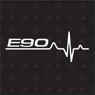 speedwerk motorwear E90 Herzschlag   Sticker für BMW, Tuning Fan Aufkleber