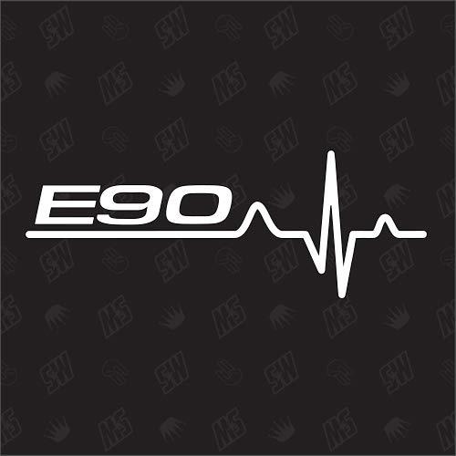 speedwerk-motorwear E90 Herzschlag - Sticker für BMW, Tuning Fan Aufkleber