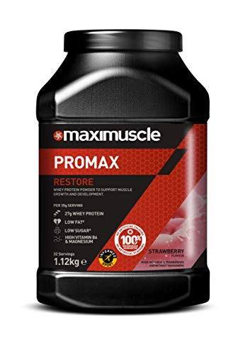 MAXIMUSCLE Promax Powder Strawberry Flavour,1.12 kg, 11185