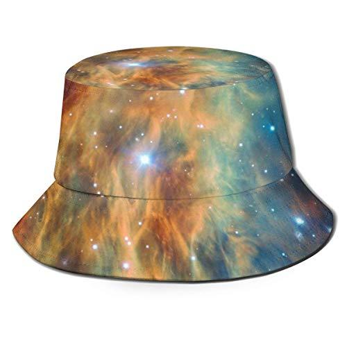 Lawenp Sombrero de Cubo Plegable para Mujer Nebula Summer Gorra de Pescador Transpirable para el Sol Sombrero de Caza Boonie para Mujeres y Hombres