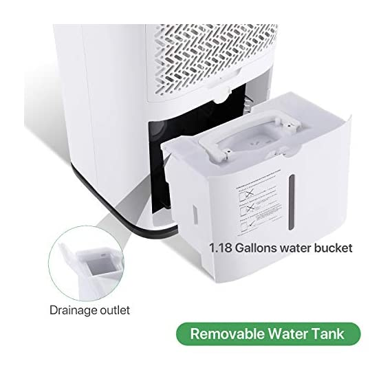 Waykar 4500 sq. Ft dehumidifier for home basements bedroom garage, removes 9 gallons moisture/day, with continuous drain… 7 dehumidifier for spaces up to 4500 sq ft- our dehumidifier are able to remove up to 70 pints (under 95°f,85%rh condition) of moisture per day. (please note: under 95°f,85%rh condition, the max dehumidification capacity up to 70 pints)in areas up to 4,500 sq. Ft and adjust humidity from 30% to 85%. It is a dehumidifier ideal for any basements, office, home, bathroom, bedroom, kitchen, stockroom, living room, laundry room, cellars, crawlspace, large spaces/room, etc.. Unique design for the modern home- the waykar dehumidifiers designed with the sleek and modern look. With built-in wheels and ergonomically placed handles, you can move this dehumidifier easily. A quiet fan that won't disturb you when you sleep or at work, adjustable fan speeds for multiple choices. There are 4 air outlets in the four sides of dehumidifier instead of that in one side, with this design will improve the speed of dehumidify. Intelligent touch control- there is an intelligent screen touch control panel display on the dehumidifier, you can operate it easily. Humidity auto control: simply adjust to your ideal moisture setting, it will smartly sense room humidity and control dehumidification to maintain pre-set humidity levels. 24-hour timer: for preset operation and reduced energy consumption. Automatic shut off/on: shuts off automatically when the bucket is full, and switch it on again after the bucket been emptied.