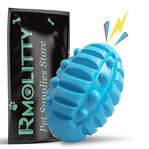 Rmolitty Hundespielzeug Unzerstörbar, Quietschspielzeug Gummi Bälle für Kleine Mittel Große Welpe Hunde
