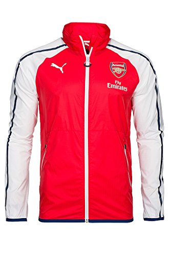 PUMA AFC Anthem SP Veste Réplica Arsenal Homme, High Risk Red/White/Estate Blue, FR : S (Taille Fabricant : S)