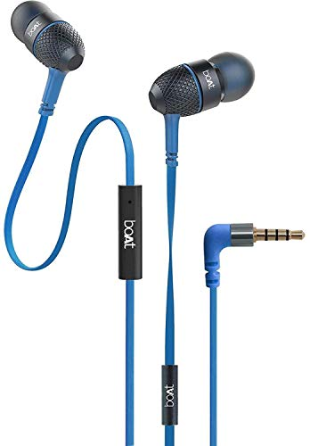 boAt 228 headbass Wired Headset with Mic(Blue, In the Ear)
