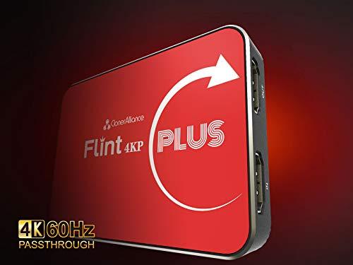 ClonerAlliance Flint 4KP Plus, 4K@60fps Passthrough, 1080p@60fps VideoAufnahme mit Mikrofoneingabe, Ultra-Low Latency, Plug&Play. Für Spielkonsolen, DSLR