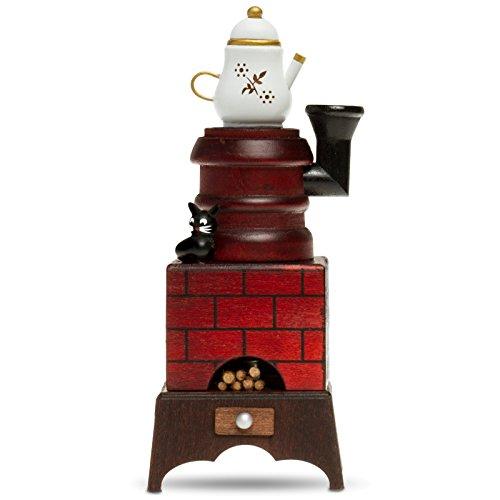 Sikora RM-E Räuchermännchen aus Holz Räucherofen mit Katze, Farbe/Modell:E01 braun/rot - Räucherofen mit Kaffeekanne, Größe:Höhe ca. 19 cm