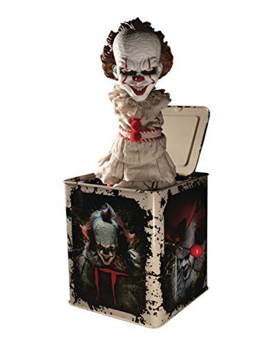 Horror-Shop ES Pennywise Burst-a-Box Springteufel Sammlerfigur 36cm