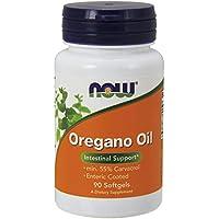 Now Foods | Aceite de Orégano (Oregano Oil, min 55% Carvacrol) | 90 cápsulas blandas | sin gluten y soya