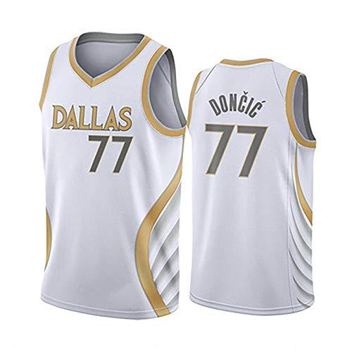 TIEON Uniformen für Damen und Herren, Lone Ranger Nr. 6 Porzingis, Nr. 77 Doncic Basketball Uniformen, Basketballfans Sportbekleidung XL 77