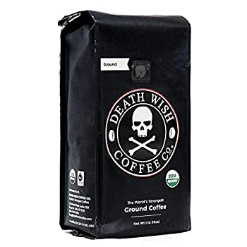 DW Coffee Death Wish Ground Coffee 16 Ounce  Pack of 6