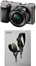 Sony Alpha a6000 Mirrorless Digital Camera with 16-50mm Lens, Graphite (ILCE-6000L/H) and Camera Strap with Quick Release System
