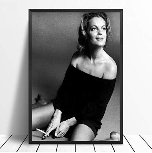 NVRENHUA Romy Schneider Filmstar Poster Promi Poster Kunst Poster Bilder für Wohnzimmer 50X70Cm Rahmenlos