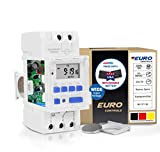 Euro Controls EDT900 Programmable Electronic Timer Switch - Replaceable Battery Slot -