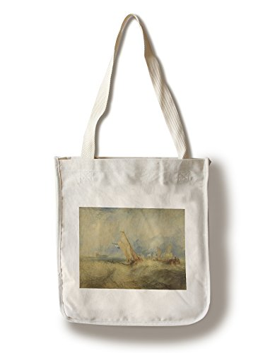 Van Tromp Going About to Please His Masters - Masterpiece Classic - Artist: J.M.W. Turner c. 1844 (100% Cotton Tote Bag - Reusable)