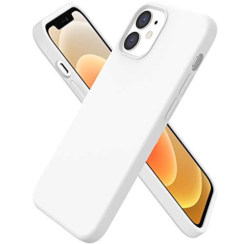 ORNARTO kompatibel mit iPhone 12 | 12 Pro 6,1 Silikon Hülle, Hülle Ultra Dünne Voller Schutz Flüssig Silikon Handyhülle Schutz für iPhone 12 Pro/iPhone 12(2020) 6,1 Zoll Weiß