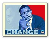 ポスター アームストロング Barack Obama change
