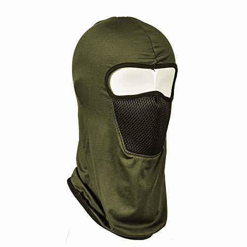 WJDH Hommes et Femmes Masques d'équitation été Mince Section extérieure Protection du Visage CS Capuchon Capuchon Filtre Masque Coupe-Vent Chapeau Toutes Tailles armée Vert
