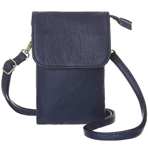 MINICAT Roomy Pockets Series Small Crossbody Bags Cell Phone Purse Wallet for Women(Dark Blue)
