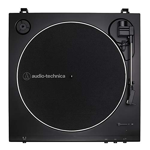 Audio-Technica AT-LP60X Fully Automatic Belt-Drive Stereo Turntable (Black) with Knox Gear Vinyl Record Cleaning Kit