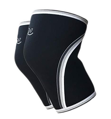 Kompressions Knie Bandage - Knie-Supporter für Herren - Beste Kniebandage für Sport Fitness Ski - Linderung von Knieschmerzen bei Meniskus Verletzungen - Arthritis - 7 mm Neopren - rutschfest (L)