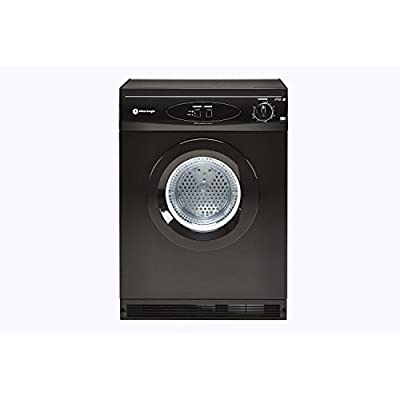 White Knight 44AB Full size Vented Tumble Dryer in BLACK