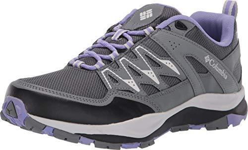 Columbia Women's Wayfinder Outdry Hiking Shoe, Waterproof & Breathable, Graphite, Fairytale, 10.5