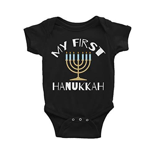 First Hanukkah Baby Bodysuit, 1st Hanukkah Infant Outfit, Jewish Toddler Clothes Jumpsuit 6 Month