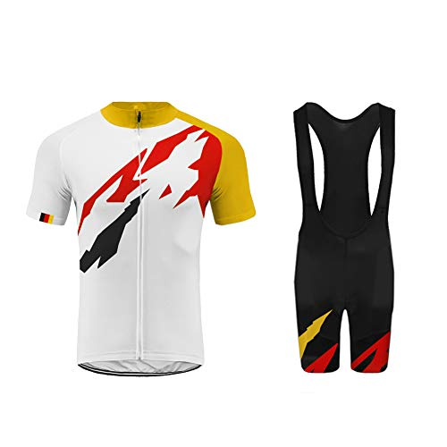 BurningBikewear Uglyfrog Ropa Conjunto Traje Equipacion Ciclismo Hombre Verano con 3D Acolchado De Gel, Maillot Ciclismo + Pantalon/Culote Bicicleta para MTB Ciclista Bici MES2019QXF05