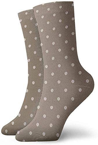 ONGH Vintage Braun Beige Grunge Polka Dot Socken Frauen & Männer Socken Fußball Socke Sport Tube Strümpfe Länge 11,8 Zoll