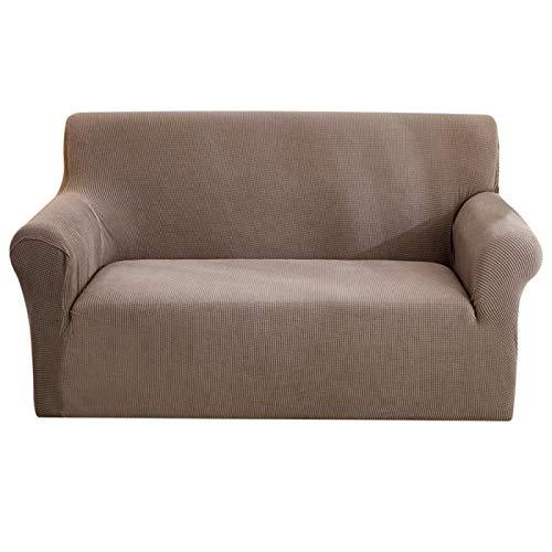 Wohnzimmer Elastisches Jacquard-Sofa Jacquard-Gitter Elastische Sofabezug, L-FöRmiger Querschnitt 1-4 Sitz Samtbezug All-Inclusive-Sofabezug