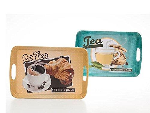 AVENUELAFAYETTE Plateau Repas déco Petit déjeuner - Vintage rétro - 42 x 28 cm (Tea - Cookies)