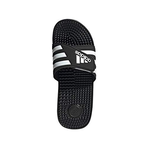 adidas Originals Men's Adissage Slides,Black/Black/White,13 M US