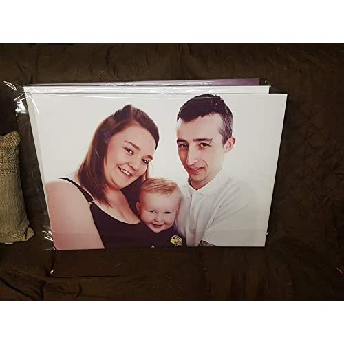 """CANVAS Print 30/""""x 12/"""" Personalised Photo Custom Picture Printing 18mm Box Frame"""