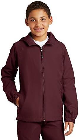 SPORT-TEK Youth Hooded Raglan Jacket F20