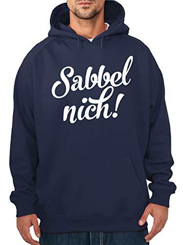 clothinx Sabbel Nich Handwerker und Schrauber Motiv Herren Kapuzen-Pullover Navy Gr. 3XL