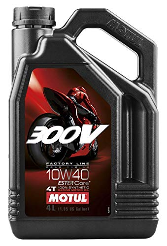 Motul 104121 300V 4T Factory Line Road Racing, 10 W-40, 4 L