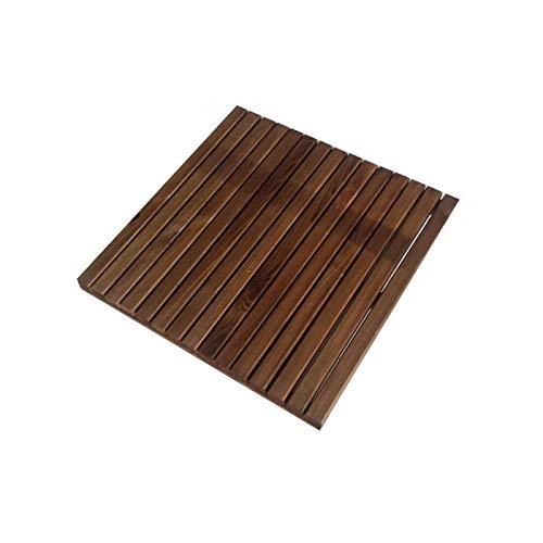 Solid Mattonella - Pavimento da Esterno Barcelona in Pino impregnato Noce 50x50 cm - Giardino terrazzo o sentieri