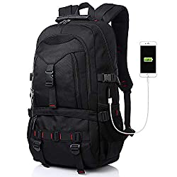 professional Tocode laptop backpack with USB charging port and headphone jack, 17-inch fashion computer school …