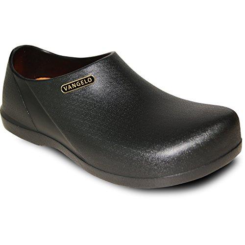 VANGELO Professional Slip Resistant Clog Unisex Work Shoe Carlisle Black