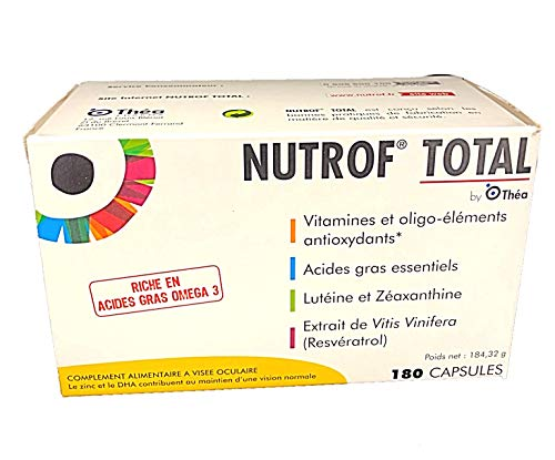 Nutrof Total 180 Capsules Dietary Supplement for Healthy Eyes (Pack of 6, 30 Capsules each)