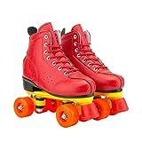 Ylight Skates Roller Skates for Women - Stylish Quad Skates, Red,40