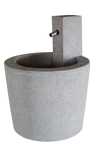 Emsa 8512024459 Gartenbrunnen Arma 59 Granite, grau