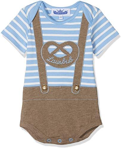 P. Eisenherz Trachten Baby Body - Lederhose Lausbub - blau, Größe 68