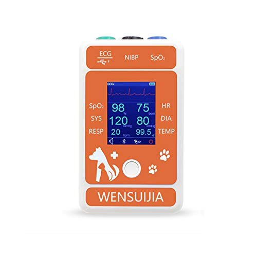 WENSUIJIA Veterinary Monitor for Pet, Monitoring 6 Parameter for Animal (Include Dogs and Cats) as Clinical Equipment (℉)
