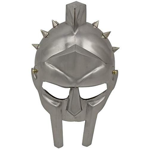 Roter Hirsch Helm des Spaniers Maximus Römischer Gladiator Helm Carbonstahl voll...