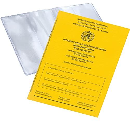 2X Impfpass mit Hülle im Set Impfbuch International 2021 mit Schutzhülle (Set- 2X Hülle + 2X Impfpass)