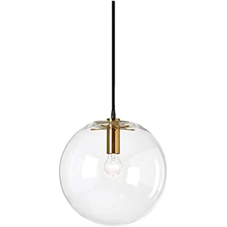 s.LUCE Pendelleuchte Orb /Ø 20 cm Klar Pendellampe Glaskugel Glas H/ängeleuchte Glas-H/ängelelampe elegant und klassisch Mundgeblasen